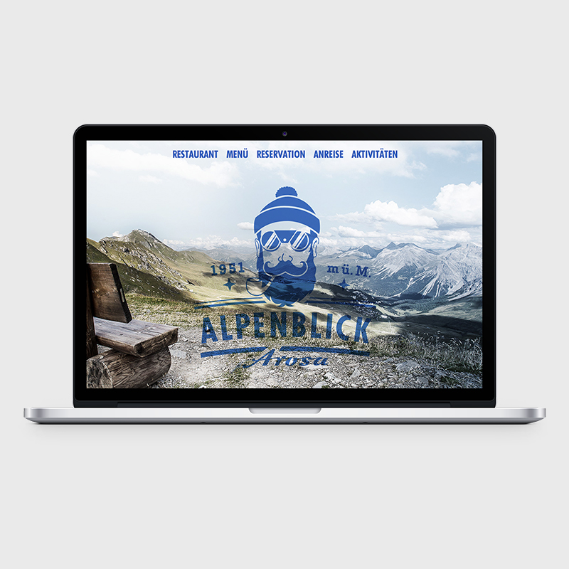 01 Restaurant Alpenblick: Website