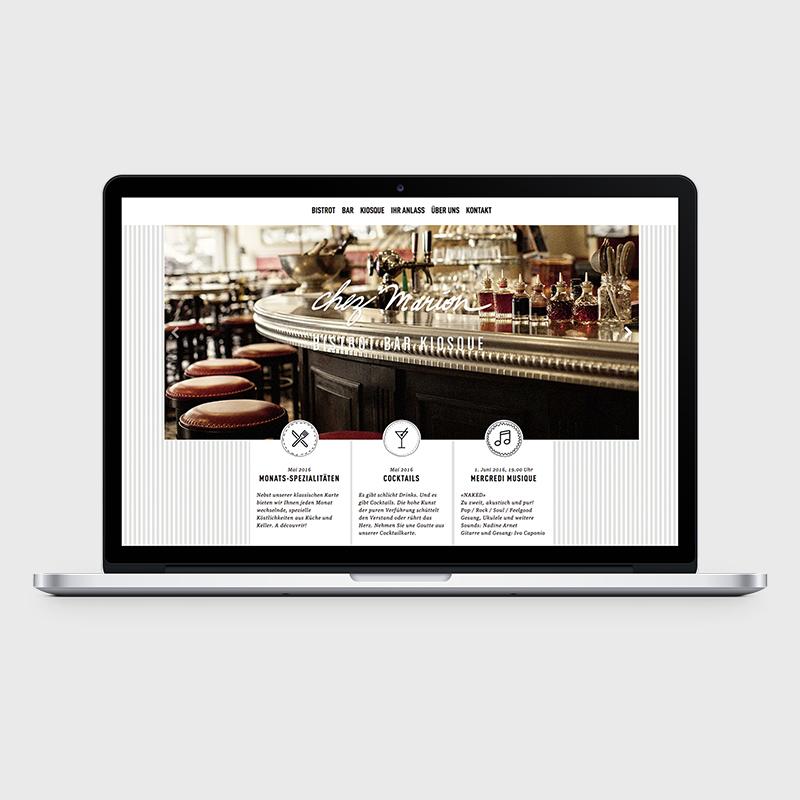 08 Bistrot Chez Marion: Website